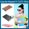 Стенд кожаный чехол для Huawei MediaPad T1 7.0 планшет чехол для Huawei T1 7.0 T1-701u чехол + протектор экрана + стилус