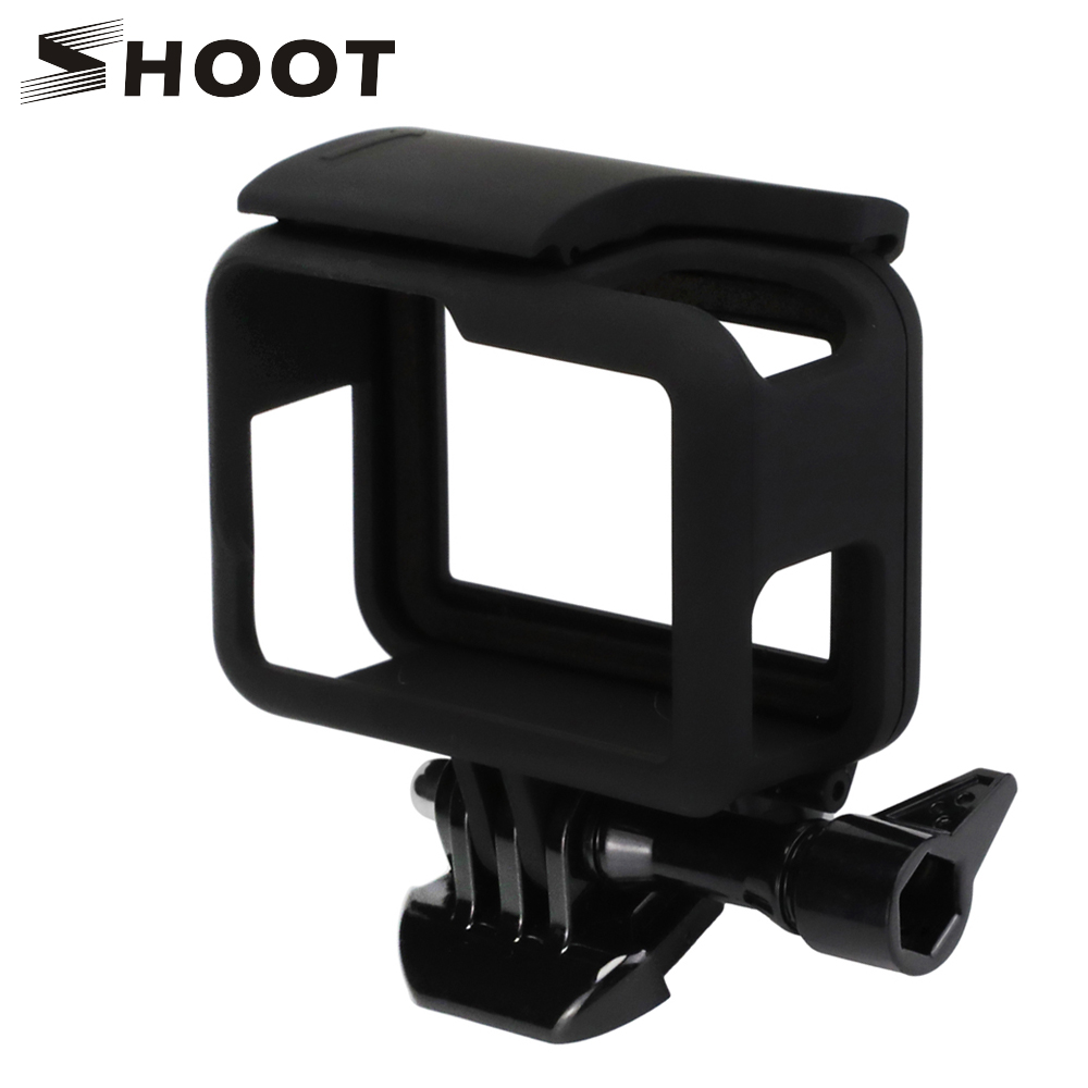 SHOOT Camera Protective Frame Mount Case for GoPro HERO 6 5 Black Cam Protective Border For Go Pro 6 5 Action Camera Accessory f88 action camera black