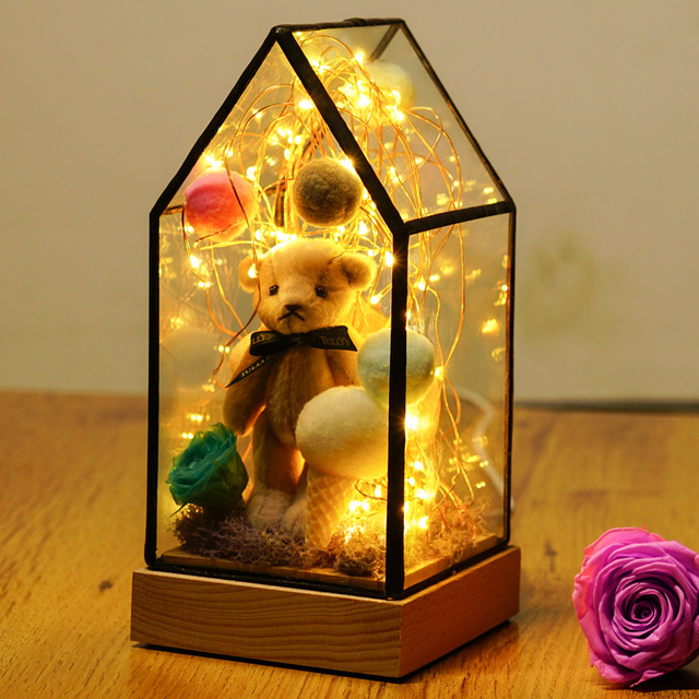 Aliexpress.com : Buy Glass Display Cloche Domes LED Night Lights ...