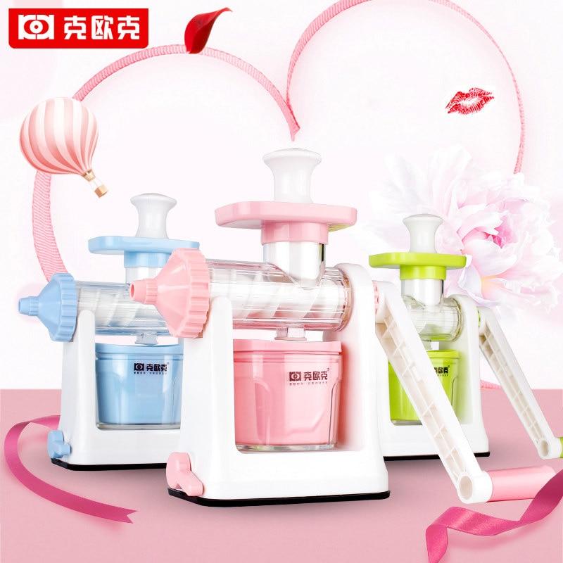 все цены на KOK Manual Juicer Fresh Pomegranate Juicer Multifunction Make Ice Cream Machine Health Home Kitchen Tools Juice Extractor онлайн