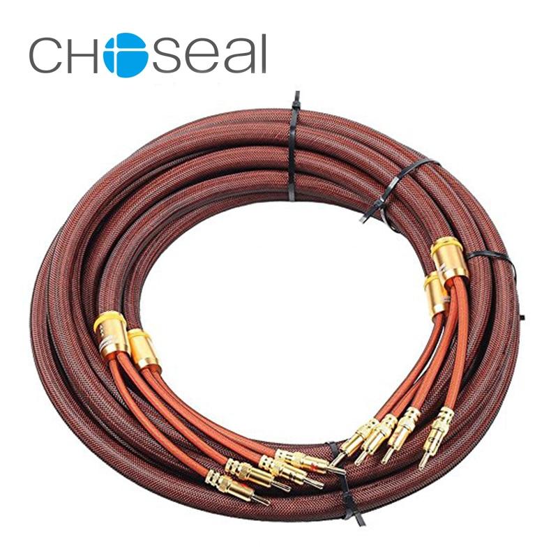 Choseal 30th anniversary LB5109 8.2FT OCC Banana Plug high quality HIFI Speaker Cable Pair