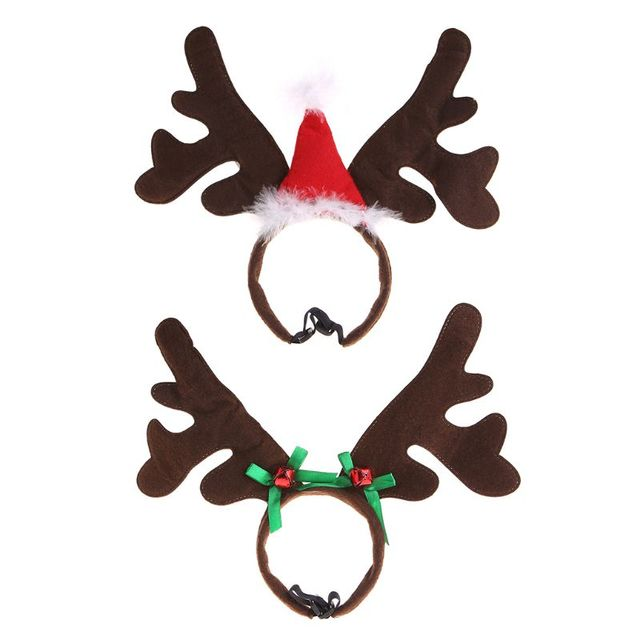 Christmas Pet Headband Deer Horn Hat Costume Dog Puppy Cat Cosplay Party Product Nov-11A
