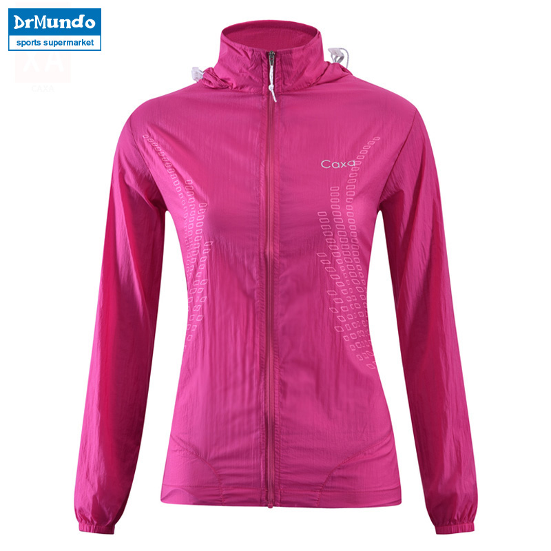 Outdoor Womens Fast Drying Anti-UV Waterproof Wind Protector Rain Ultralight Ultra-thin Skin Windbreaker Jacket UPF 40+ ...