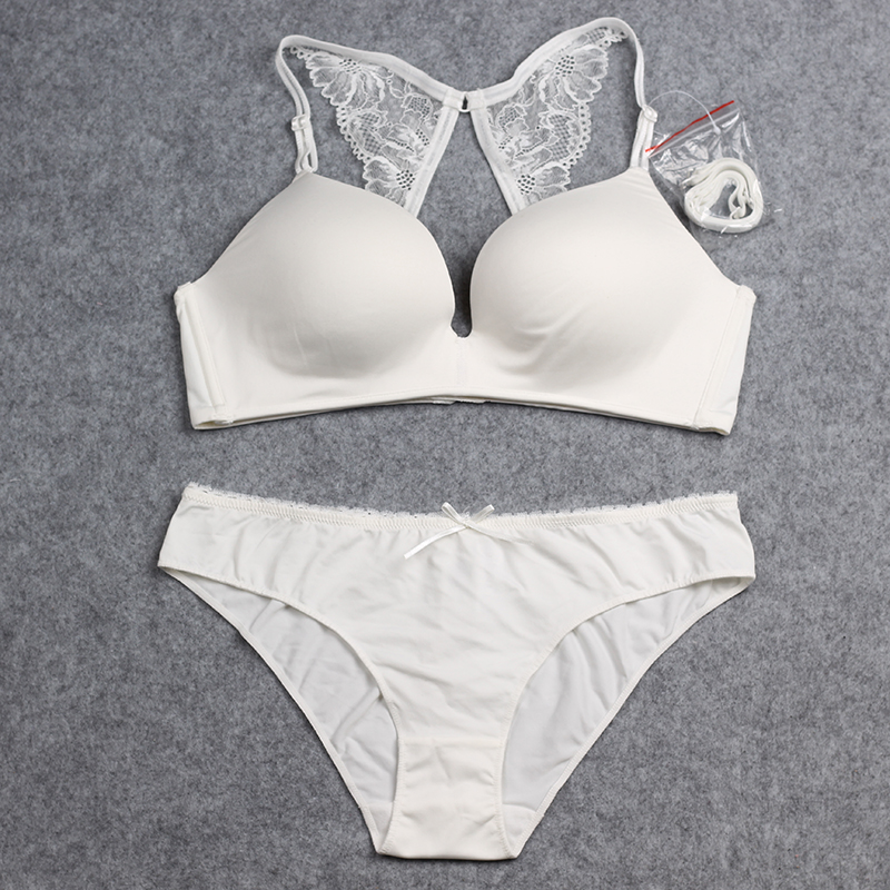 03c0c210dac84 Free Gifts Wire Free One piece Seamless Bra With Lace Butterfly Backless  Bra Panty Set Underwear Women Sexy Lingerie -in Bra   Brief Sets from  Underwear ...