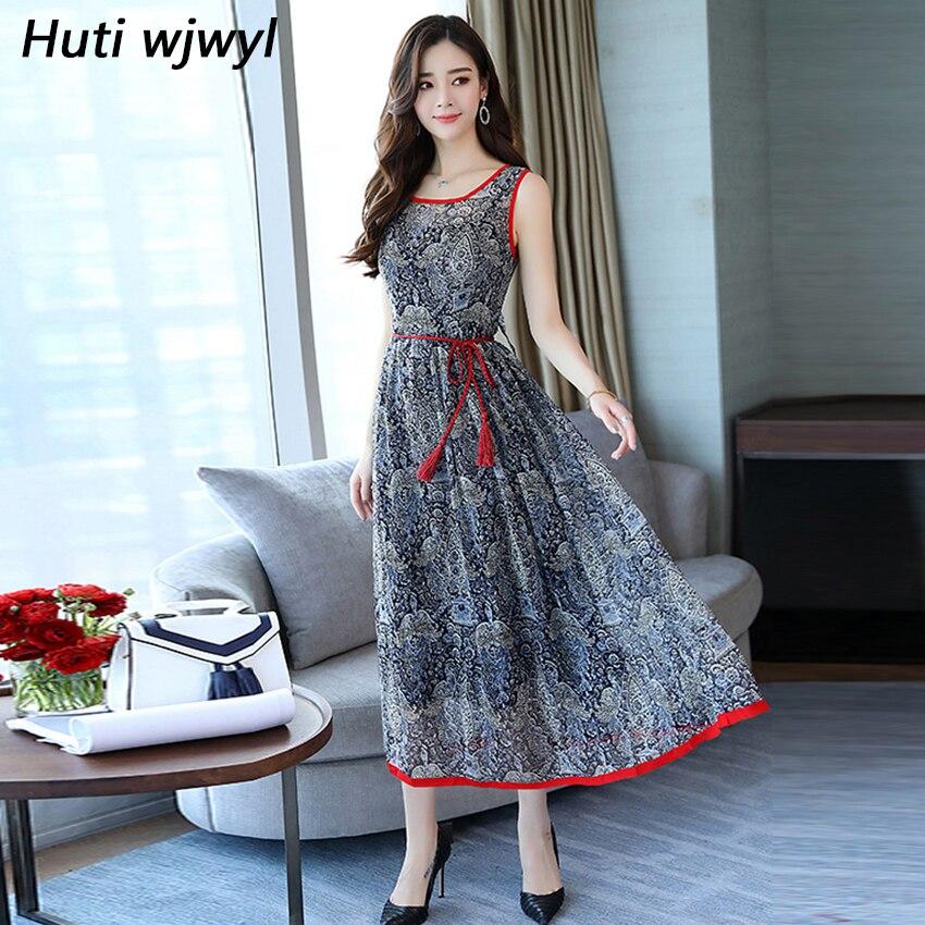 2018 Vintage Women Midi sundress Plus Size Party Sexy Maxi Dresses Beach Casual Long Vestidos Summer Elegant Floral Boho Dress