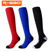 Soccer Socks (2 pairs/lot) R-BAO RB6605 Cotton Football Men Sports Outdoor Hiking