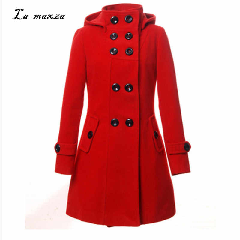2018 Winter Women Korean Style Coat Casual Fashion OL Elegant Streetwear Ladies Long Coat 2XL