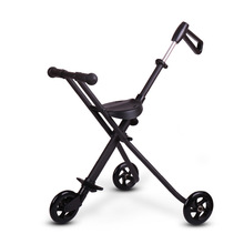 New Baby Stroller Aluminium Alloy Simple And Easy Light Children Fold Skate Round Trolley Hand push Portable Foldable Sale