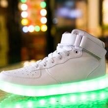 Adults men Led shoes casual shoes fashion Led light man shoes with USB led luminous Mixed Colors shoes zapatillas deportivas