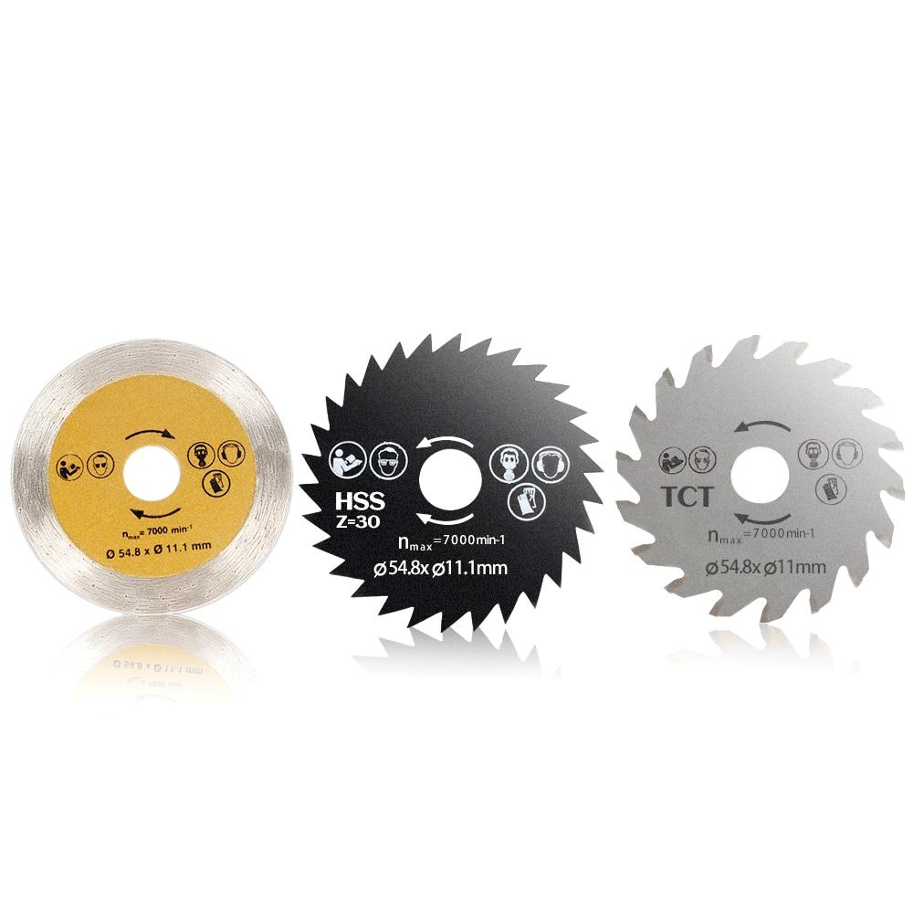 3 High-speed Steel Circular Saw Blade Woodworking Cutting Disc Diamond Mini Metal Wood Sawing Cutter Wheel Rotary Cutter Power