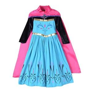 Платье принцессы Анны и Эльзы из Снежной Королевы для девочек, вечерние платья Эльзы на день рождения, карнавальные костюмы Эльзы, одежда дл...