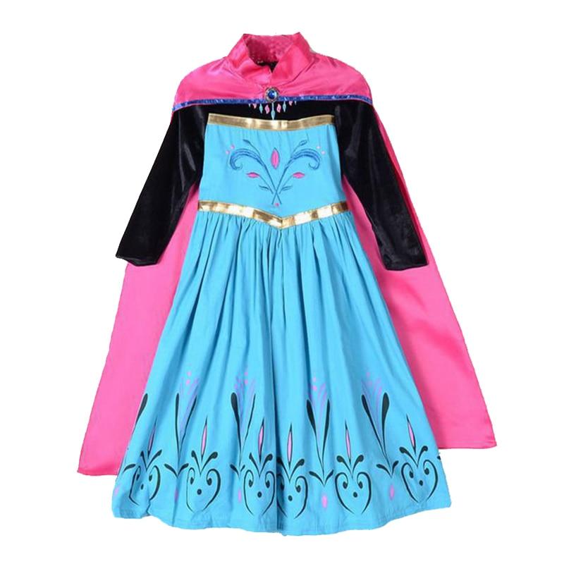 32ac016ca7c25 Snow Queen Princess Anna Elsa Dresses for Girls Party Birthday Frozen Elsa  Dress Cosplay Elza Costumes Kids Girls Clothing