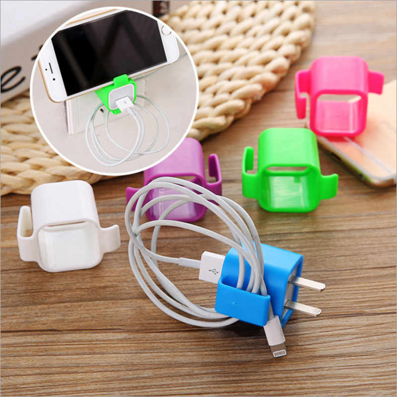 SIANCS Mobile Phone holder charging bracket Candy color stand Charging Cable Manager  Lazy people Support for iphone charger