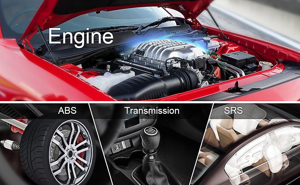 Enhanced Diagnosis Function for Engine, ABS, Airbag, Transmission