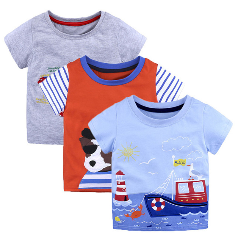 Boys Tops Summer 2018 Brand Children T shirts Boys Clothes Kids Tee Shirt Fille 100% Cotton Character Print Baby Boy Clothing 2017 new summer short sleeve coll boys t shirt baby character cool new kids t shirts boys clothes cotton children clothing ss066