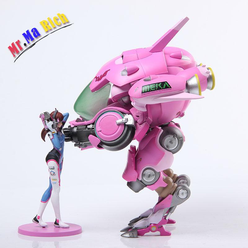 Dva D.va Meka Mecha Mobile Suit Pvc Figure Statue With Retai Toy цена 2017