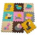 Top qualidade e ecológica do enigma do jogo do bebê engatinhando tapete de espuma criança esteiras do enigma 9 peças/lote menino meninos tapete playmat