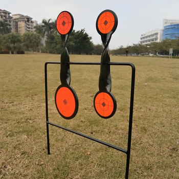 Tactical Skill/Outdoor Sport Hunting Shooting  Airgun 4-Plate Spinner Target/Also For Paintball Shooting/Improving