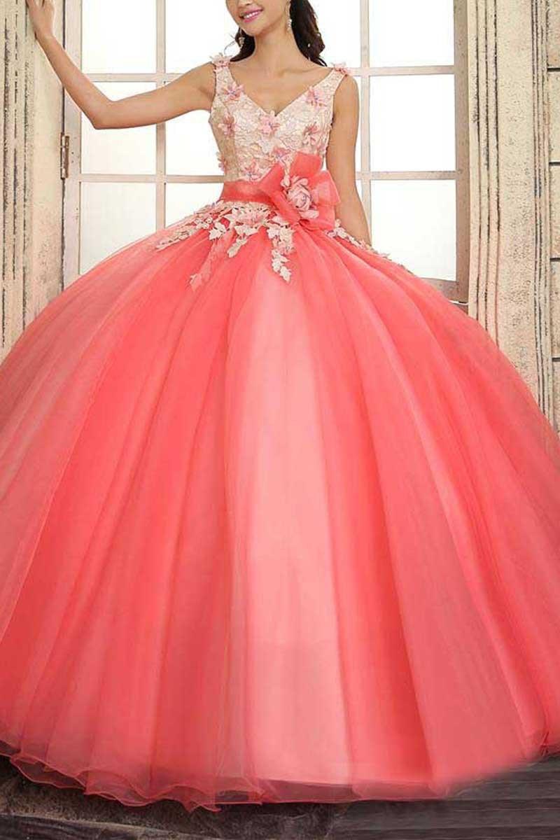 Coral V-Neck Quinceanera for 15 years of debutante vestidos de 15 anos azul curto vestidos de 2019 new rojo   bridesmaid     dresses