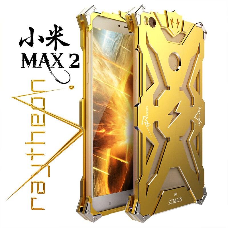 imágenes para ZIMON Thor Armor Caso de la Cubierta de Aleación De Aluminio de Parachoques del Metal para Xiaomi mi Max 2 Caso Capa Fundas Coque para Xiaomi Caso Max2