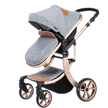 High landscape Baby font b Stroller b font bb trolley four wheel shock can lying and