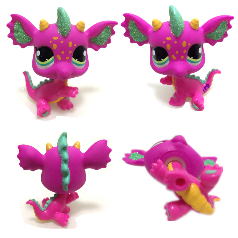 New Rare Lps Pet Shop Toy Shorthair Cat Pink Unicorn Fox Collie Dog Lps Toy Action Figure Standing Classic Gift Cosplay Best