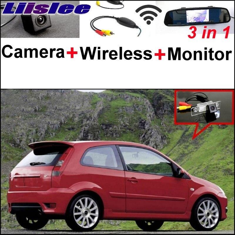 Liilsee специальная камера + беспроводной приемник + монитор зеркала парковочная система для Форд Фиеста в классическом для ForIkon 2002~2008