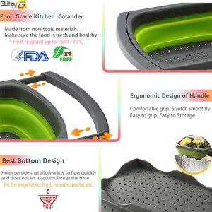 Image 4 - Nhà Bếp Rây Lọc Trái Cây Rổ Rửa Rau Có Thể Gấp Gọn Dụng Cụ Lọc Ốp Điện Trên Bồn Rửa Chén Có Thể Điều Chỉnh Silicone Dụng Cụ