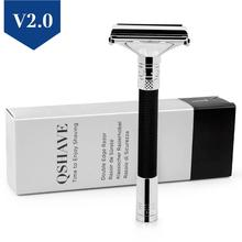 QShave New Design Luxurious Parthenon V2.0 Razor Butterfly Open Adjustable Safety Classic for Superb Mens Shaving Barber
