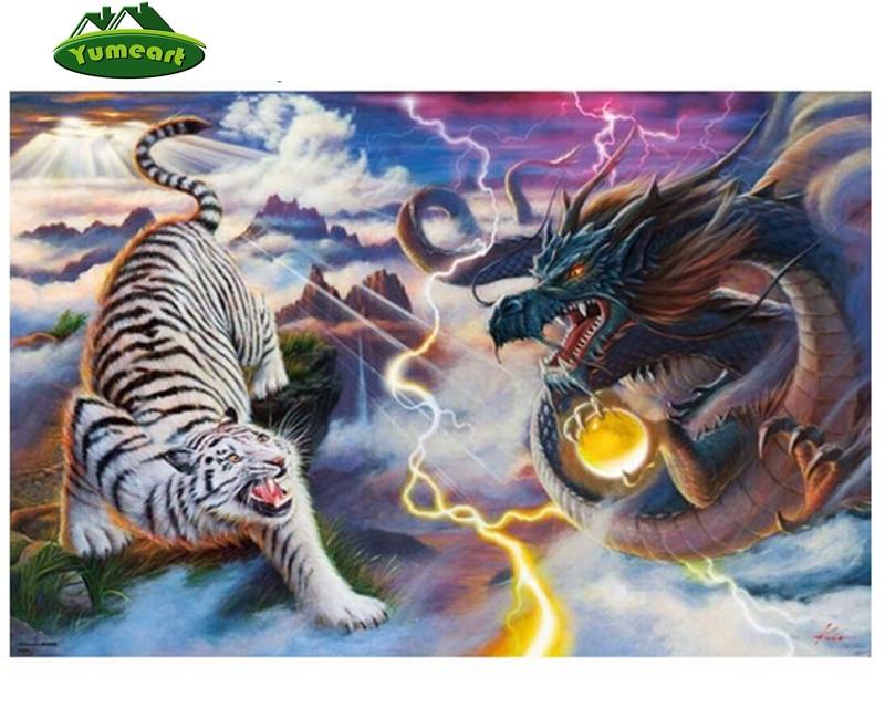 Dragon 5D Diamond Embroidery Painting DIY Painting Cross Stitch Home Decor Kit