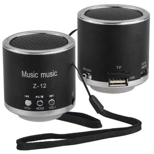 mini portable rechargeable audio speaker radio for mp3 in portable speakers from consumer. Black Bedroom Furniture Sets. Home Design Ideas