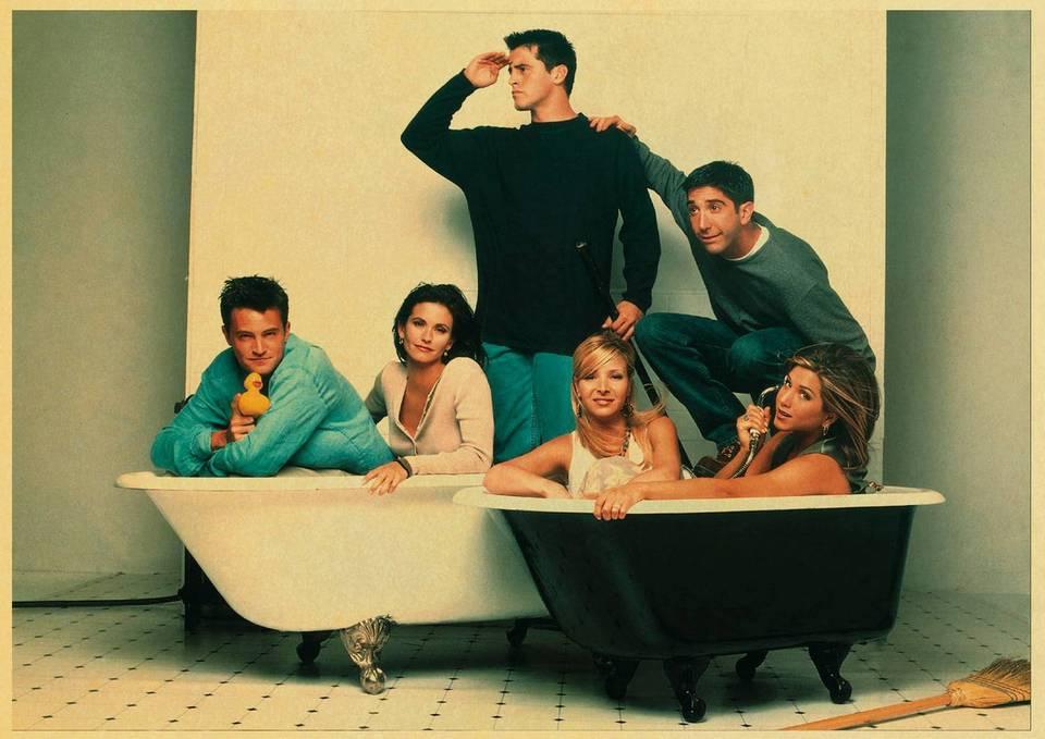 Tv Show Friends American Drama Movie Vintage Poster Room Decor