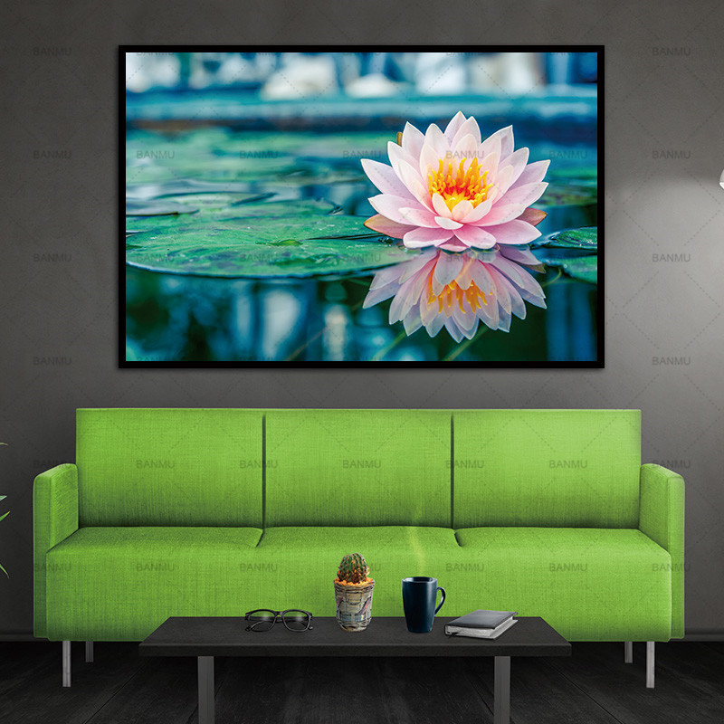 No Frame Wall art Flower canvas painting home deor  Wall Pictures print  for Living Room ...