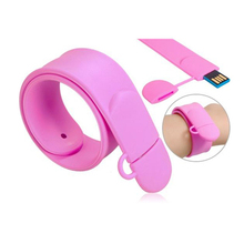 2017 top selling Retail Pendrive 32G Bracelet USB Flash Drive Colorful Silicon Usb Disk Couple Wristband Usb2.0 Memory