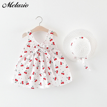 Melario Baby Girls Clothing 2019 Baby Girl Clothes Set Outfit Baby Boho Style Summer Beach Outfit Clothe Tops + Pants + Hat