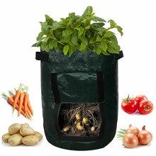 야채 식물 성장 가방 DIY 감자 성장 재배자 PE 헝겊 토마토 심기 컨테이너 가방 Thicken Garden Pot Garden Supplies