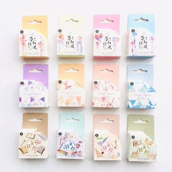 1.5cm*5M Gentle Breeze Stationery Fans Triangle Obsession Masking Tape Decorative Washi Tape Diary Notebook Album Decor