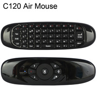 10 Pcs 2.4 GHz Mouse II C120 Rato Ar T10 Recarregável Sem Fio GIROSCÓPIO Fly Air Mouse Mini Teclado para Caixa de TV Android computador