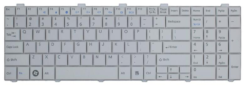 купить New US Keyboard For Fujitsu Lifebook AH530 AH531 NH751 A530 A531 Black/white English Laptop Keyboard по цене 956.04 рублей