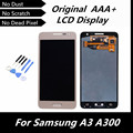100% testado original lcd para samsung galaxy a3 a300 a3000 display lcd touch screen digitador peças de reposição de tela cor de ouro