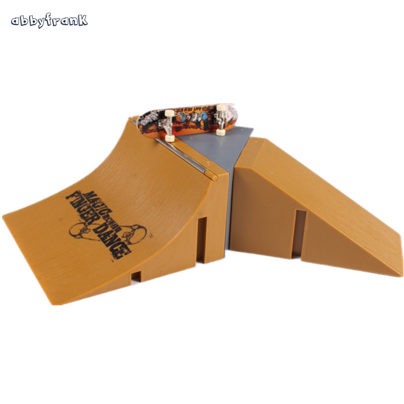 Abbyfrank Mini Finger board Skatepark Suit Toys Educational Finger Skateboard Skate Park Desk Toy For Kids Play Games At Home