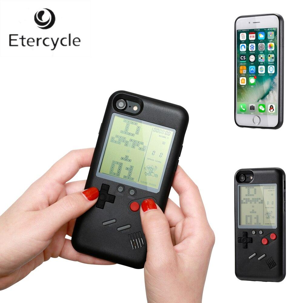 Ninetendo Retro Game Boy Tetris Caso de Telefone Para o iphone 6 6 s 7 8 6 Mais 6 s Mais 7 Mais 8 Mais iPhone X