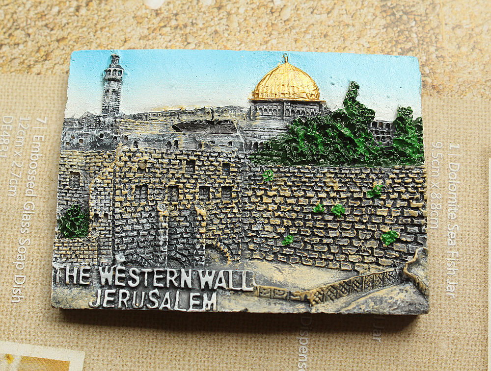 The Western Wall, Jerusalem, Tourism Travel Souvenir 3D Resin Decorative Fridge Magnet