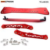 Barra de subrame + barra de laço inferior + braço de controle inferior traseiro para honda civic eg 88 95 TK LAB EG|arm lower|bar bar|arm controller -
