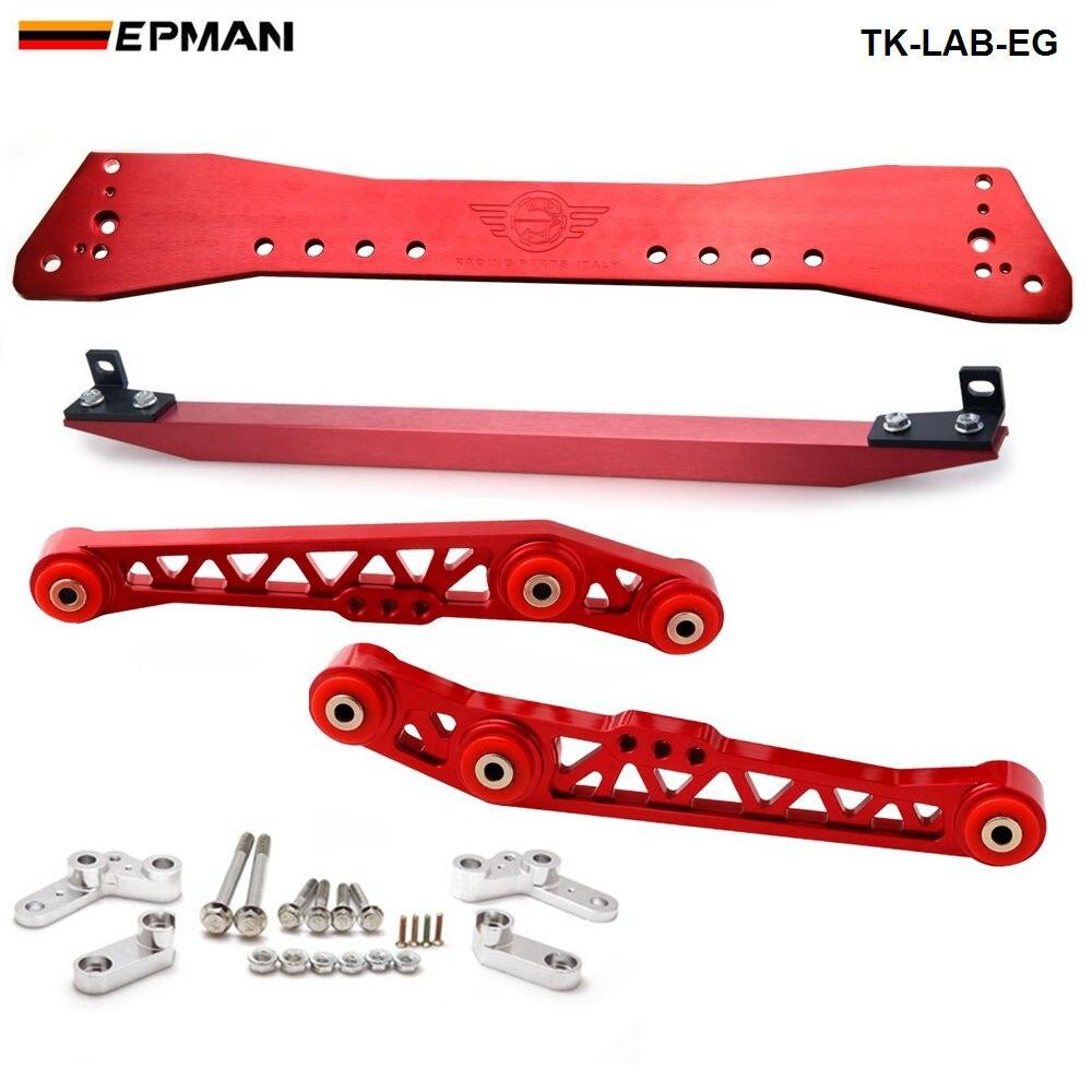 Barre de Subrame + barre de fixation inférieure + bras de commande inférieur arrière pour Honda Civic EG 88-95 TK-LAB-EG
