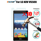 XSKEMP 10Pcs/Lot 9H Hard Protective Glass For LG K8V VS500 Premium Tempered Glass Screen Protector LCD Toughened Protective Film