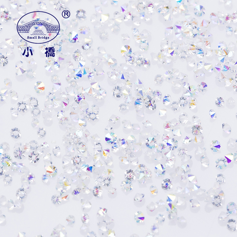 Manicure Mini Zircon Rhinestones 1.1mm Micro Crystal Strass Glass AB Rhinestones Til Nail Art Dekorationer Pixie1440pcs / lot S012