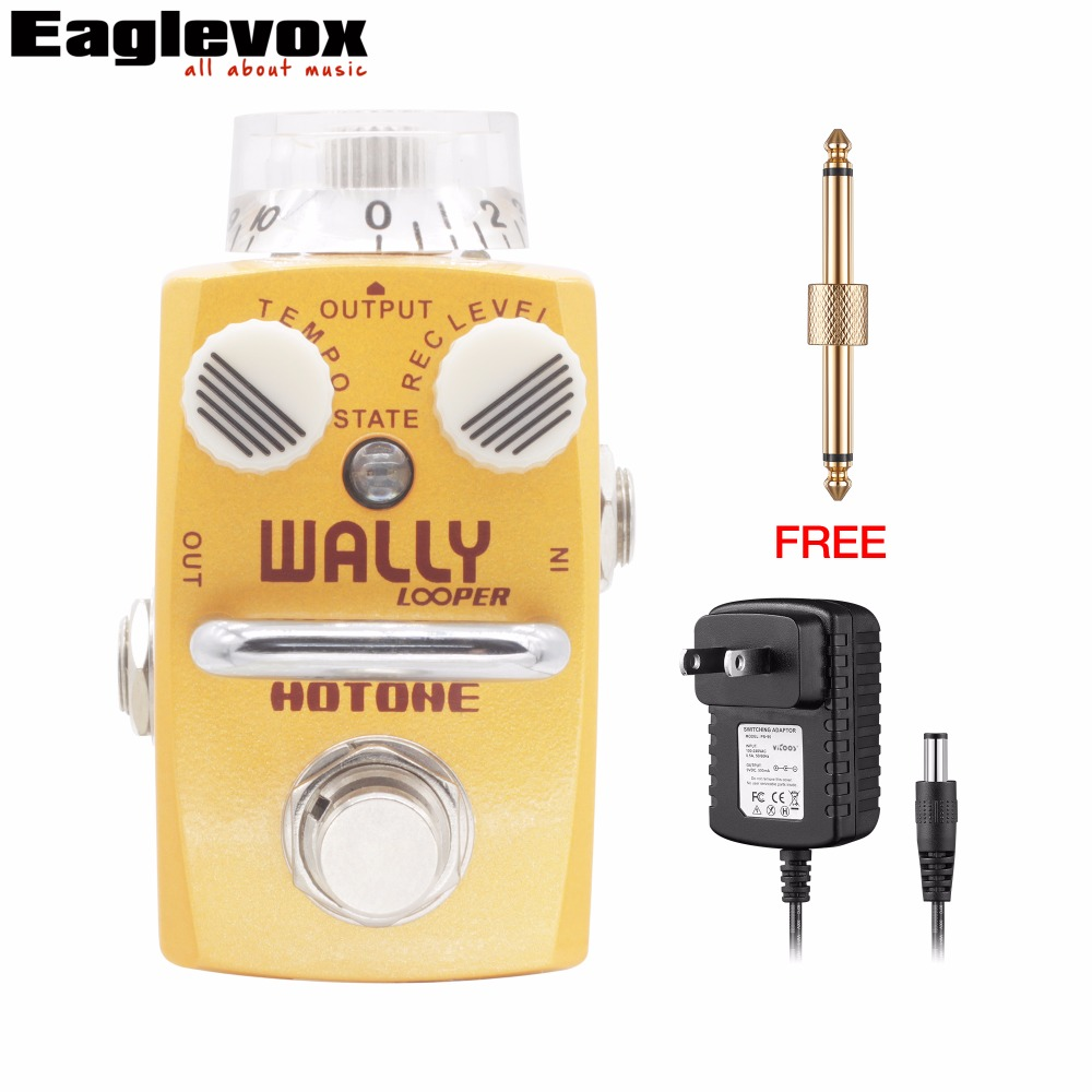 Hotone Wally Looper Loop Station Overdub Record Electric Guitar Effect Pedal with Free Power Adapter and Connector free shipping phrase loop core loop pedal block effect drum machine circular pedal