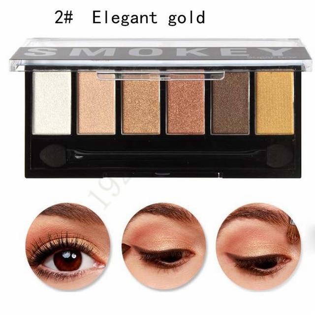 Extrêmement 2017 6 Couleurs Ombre À Paupières Maquillage Shimmer Mat de Fard À  ZR27