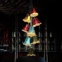 Американский кантри творческий цвет колокол люстра современный личность искусства ткани Столовая Спальня Коридор LU808927